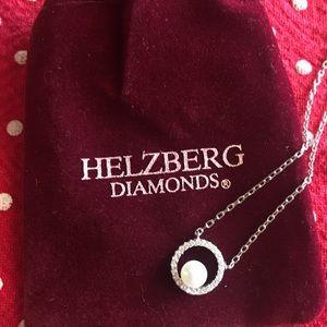 Helzberg Diamonds Sterling Silver Pendant w/pearl